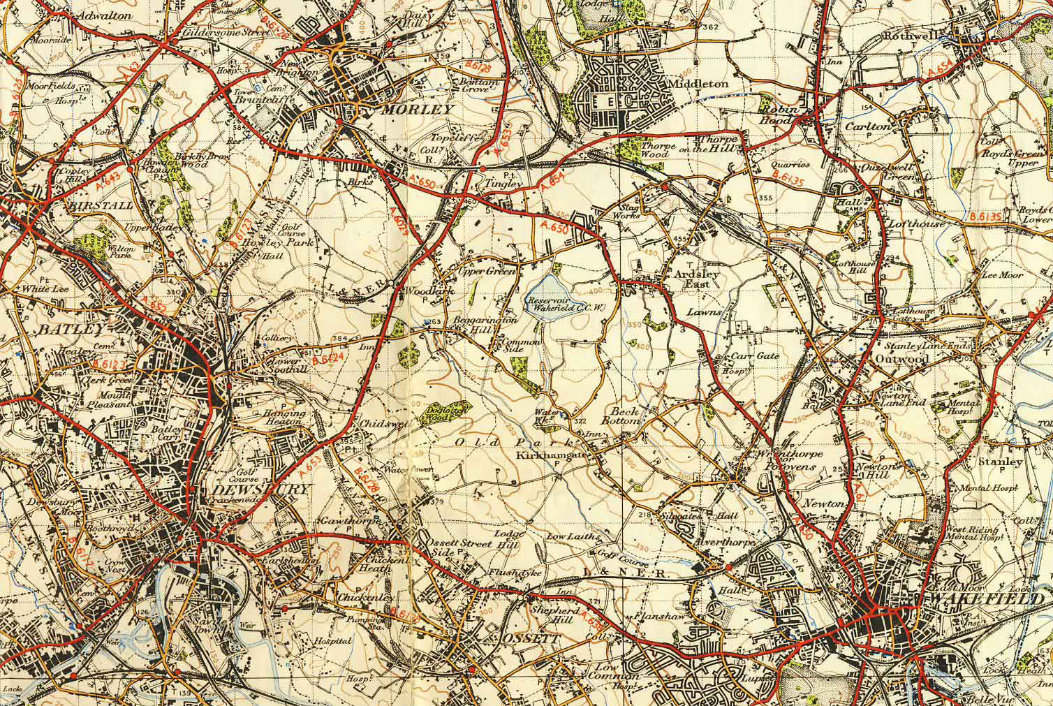 Routes - Old os maps